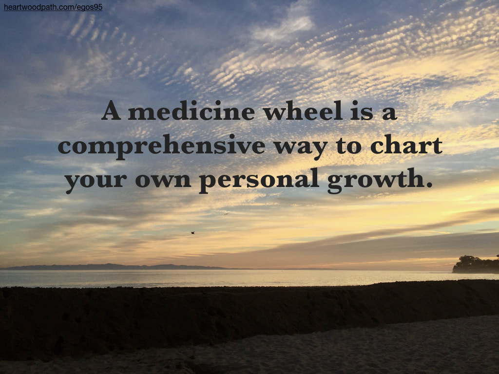 Picture sunset ocean island quote A medicine wheel is a comprehensive way to chart your own personal growth