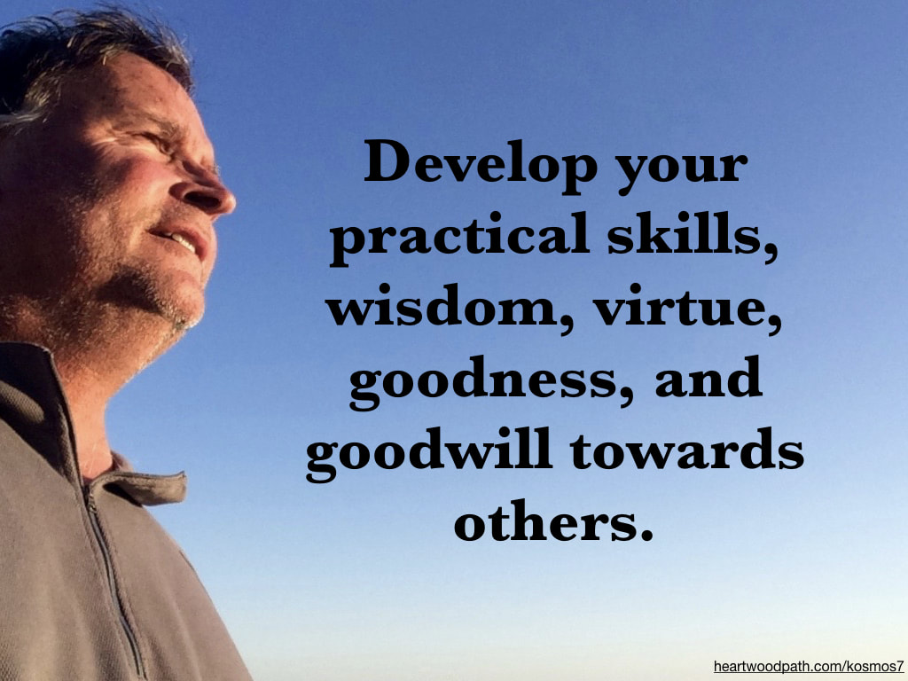 life coach don pierce quote Develop your practical skills, wisdom, virtue, goodness, and goodwill towards others
