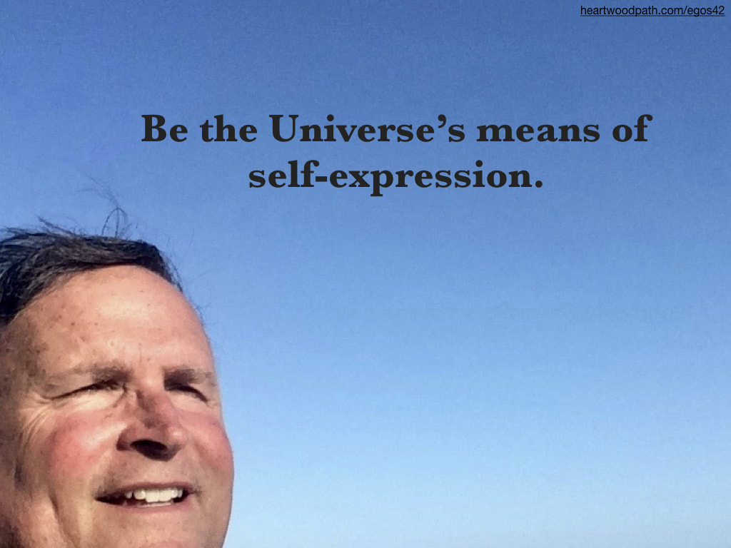 picture-life-coach-don-pierce-saying-Be the Universe's means of self-expression