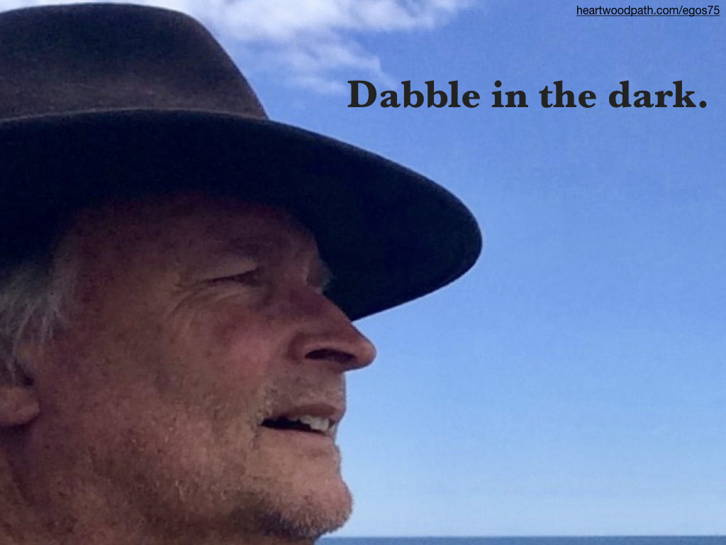 picture-don-pierce-life-coach-saying-Dabble in the dark