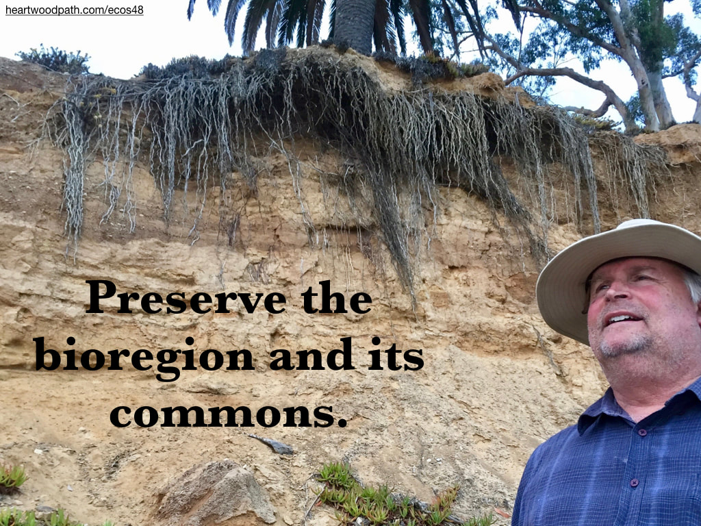 picture-don-pierce-life-coach-saying-Preserve the bioregion and its commons