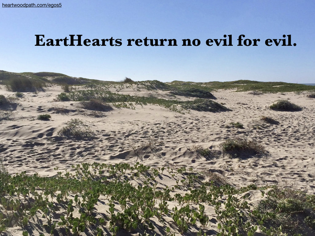 Picture sand dunes quote EartHearts return no evil for evil