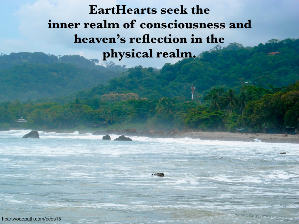 Picture rain forest ocean coast quote EartHearts seek the inner realm of consciousness and heaven's reflection in the physical realm