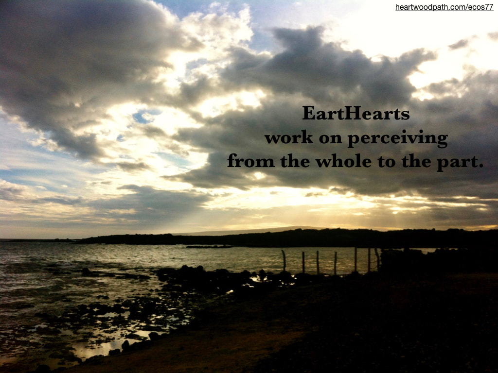 Picture sunday's shining through clouds ocean beach quote EartHearts work on perceiving from the whole to the part