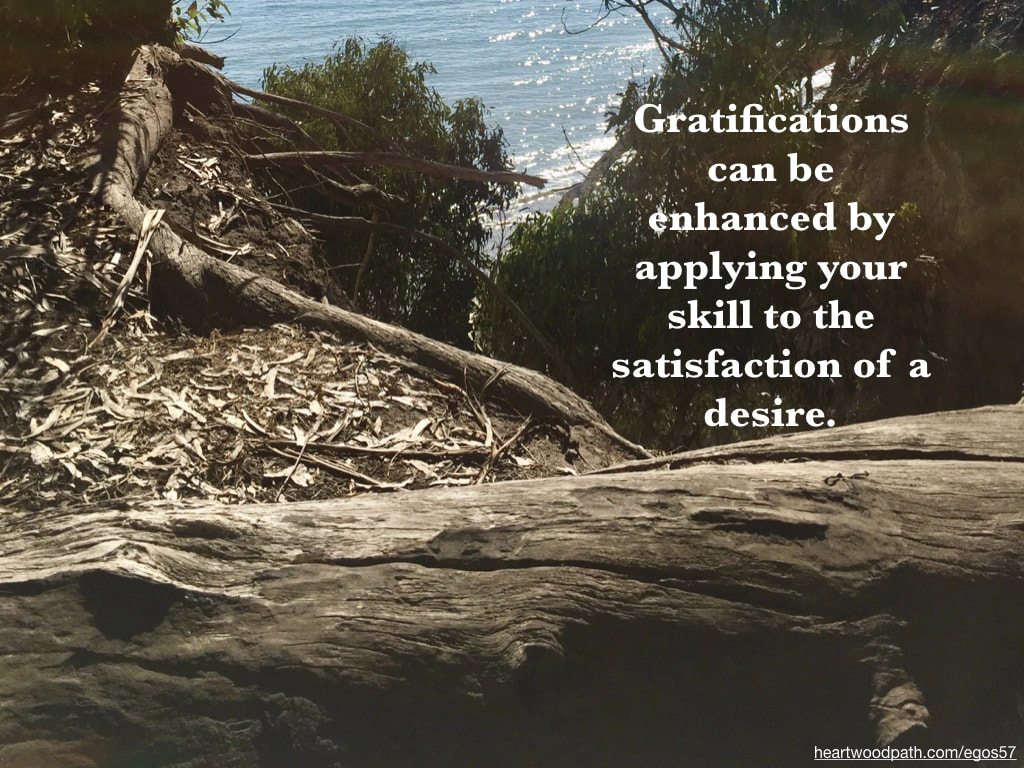 Picture log ocean view quote Gratifications can be enhanced by applying your skill to the satisfaction of a desire