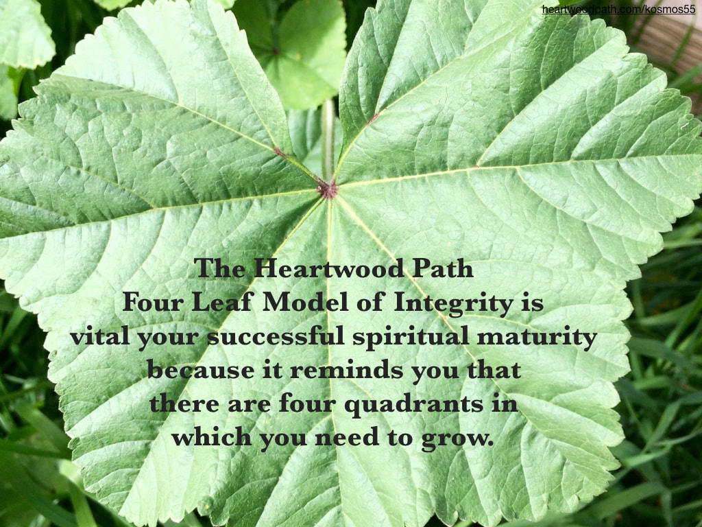 Picture-green-leaf-connecting-with-nature-quote-The Heartwood Path Four Leaf Model of Integrity is vital your successful spiritual maturity because it reminds you that there are four quadrants in which you need to grow.