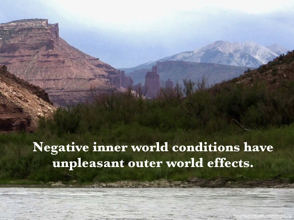 Picture red canyon river quote Negative inner world conditions have unpleasant outer world effects