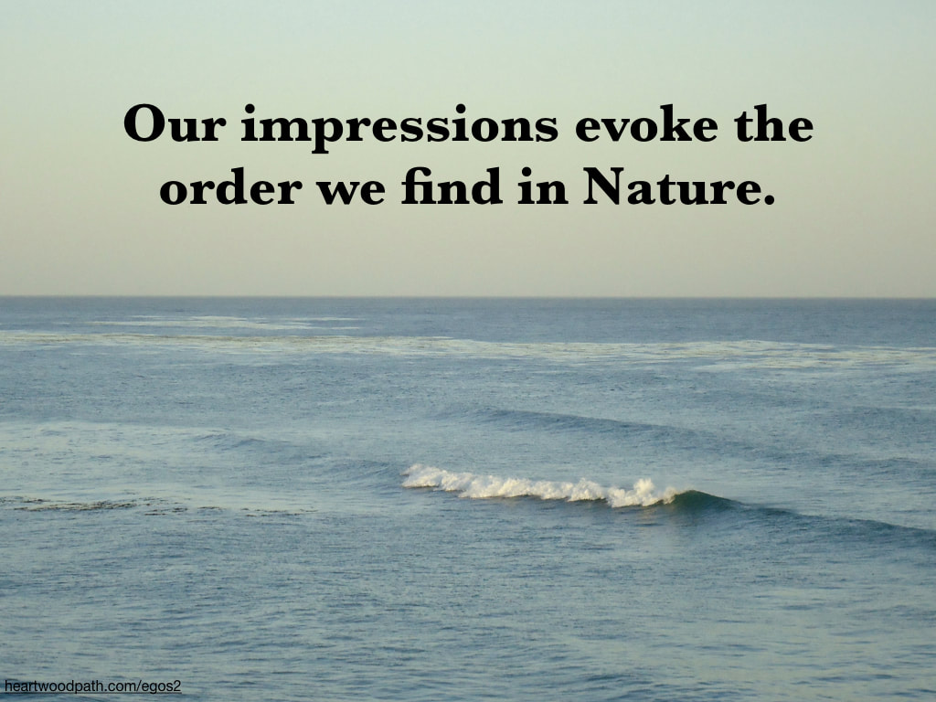 Picture wave with quote Our impressions evoke the order we find in Nature