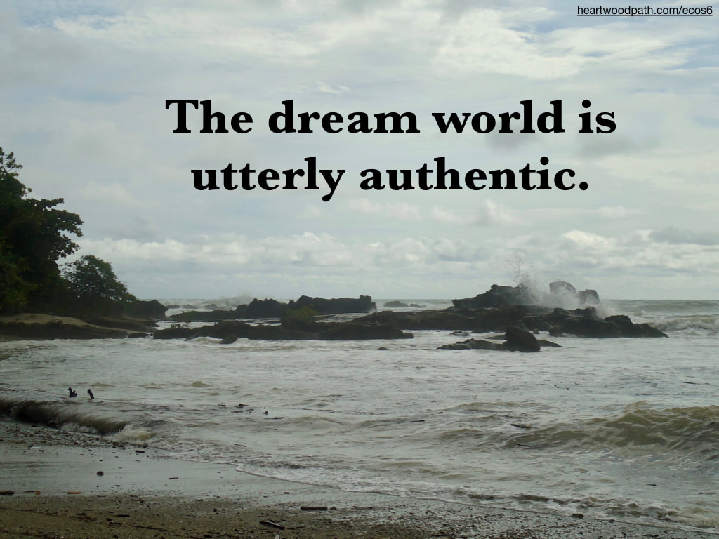 Picture ocean stormy quote The dream world is utterly authentic