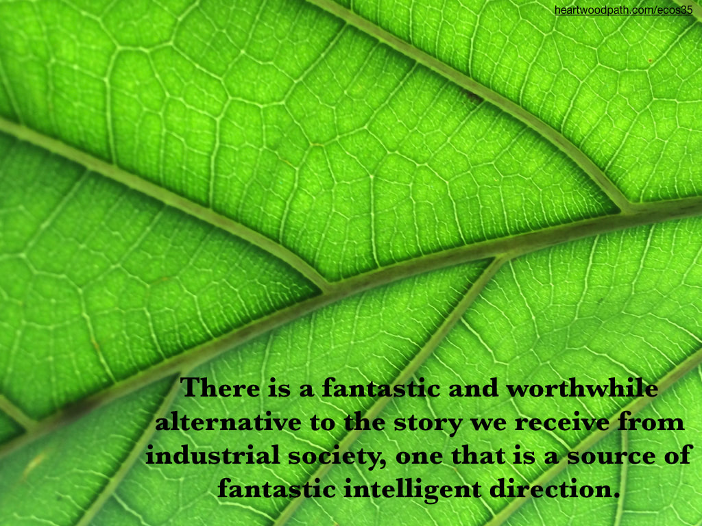 Picture detail green leaf quote There is a fantastic and worthwhile alternative to the story we receive from industrial society, one that is a source of fantastic intelligent direction
