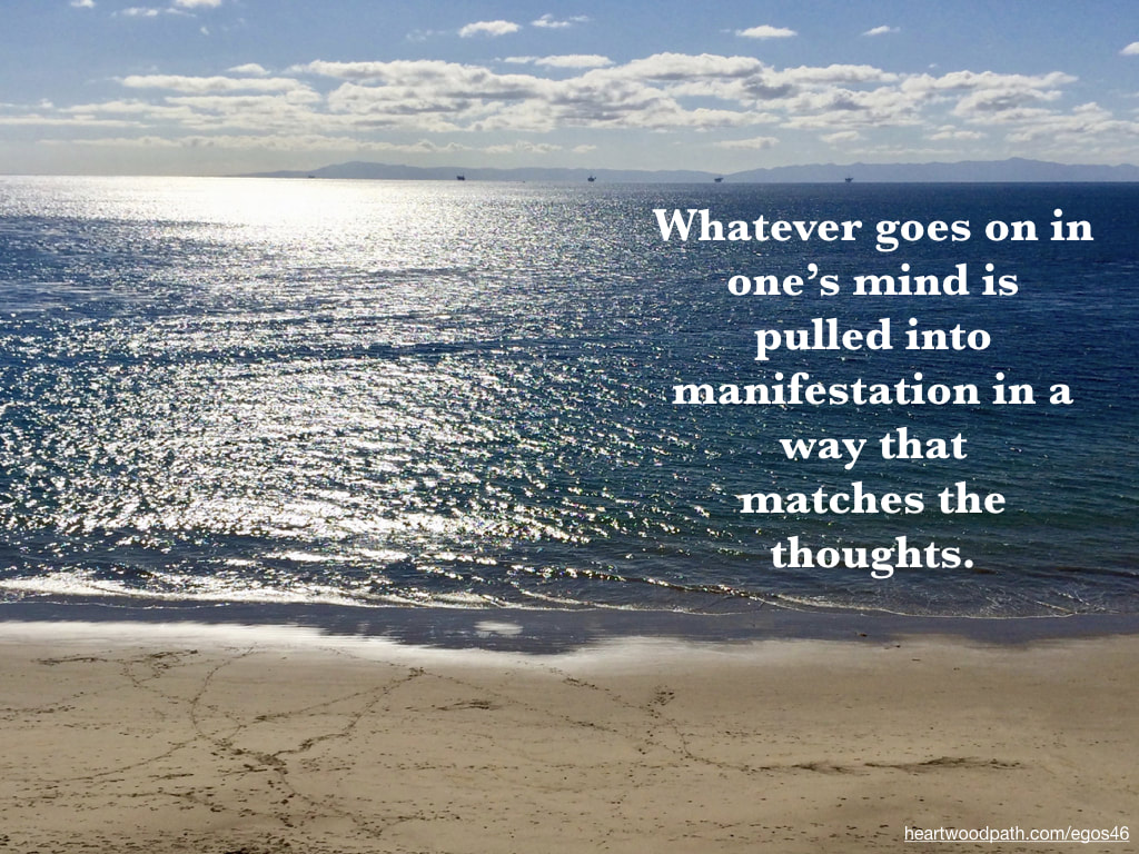 Picture ocean reflection islands beach quote Whatever goes on in one's mind is pulled into manifestation in a way that matches the thoughts